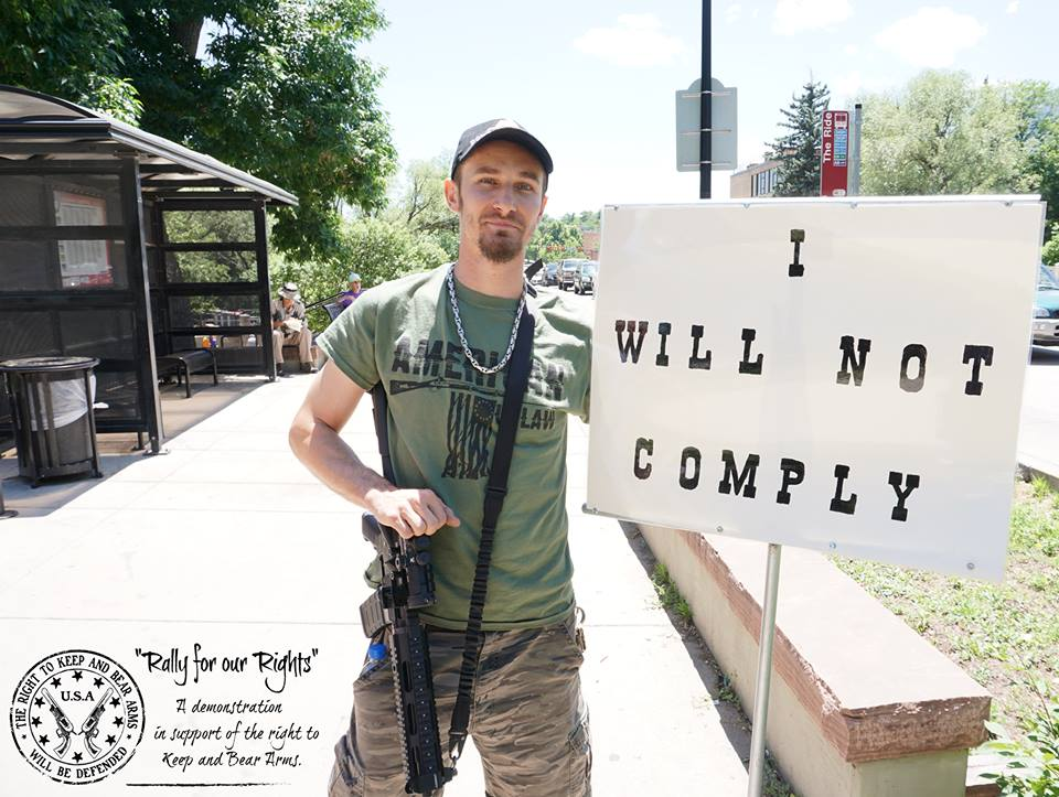 Michael Bacca I Will Not Comply Boulder Colorado Eric Swalwell assault weapons ban second amendment