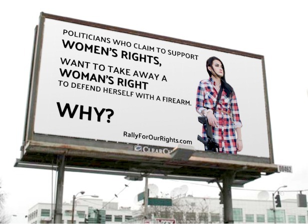 gun rights womens rights billboard colorado rally for our rights