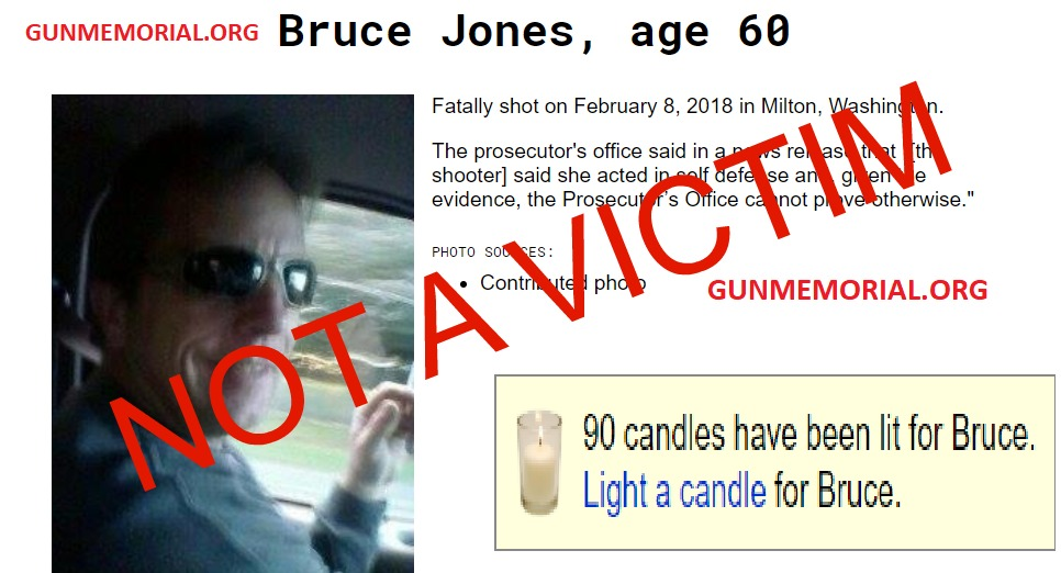 "60 YO Man Killed In Self Defense By 23 YO Woman Is Memorialized As ""Gun Violence"" Victim - Rally for our Rights - Bruce Jones Aubrey Bowlin"