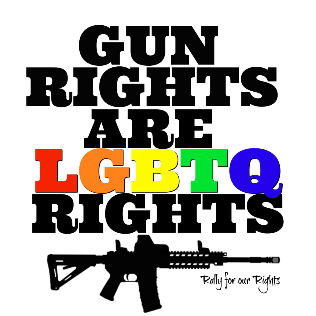 gun rights LGBTQ rights - rally f