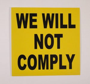 We Will Not Comply Stickers Rally for our Rights Colorado