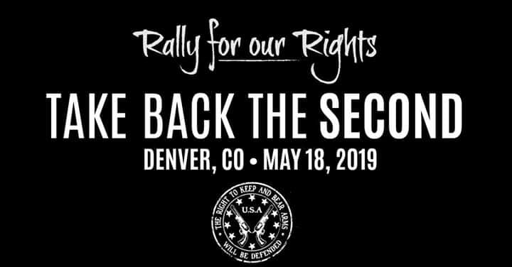 Rally for our Rights Take Back The Second Gun Rights Second Amendment Colorado Denver