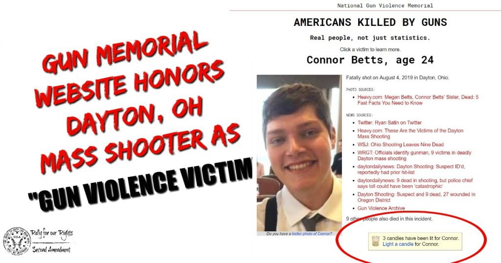 Gun Memorial Website Honors Dayton, OH Mass Shooter As Gun Violence Victim Connor Betts