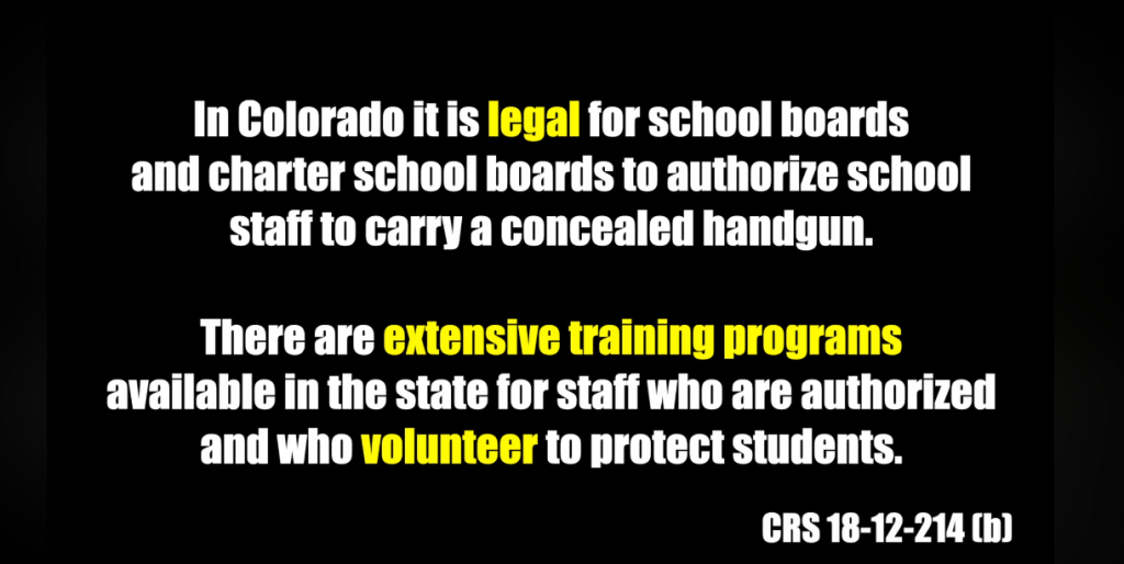 Douglas County CO School District Threatens To Shut Down Charter School That Allows Armed Staff : Rally For Our Rights