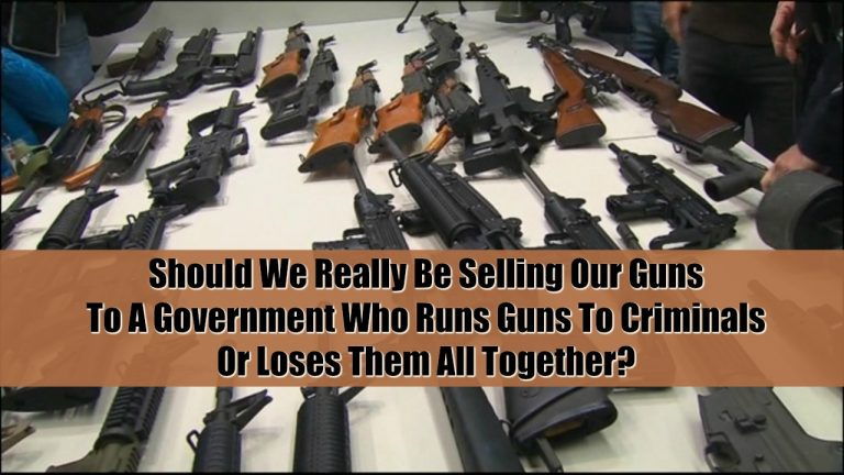 Should We Really Be Selling Our Guns To A Government Who Runs Guns To Criminals Or Loses Them All Together?