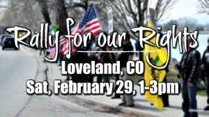Rally For Our Rights Loveland Colorado Gun Rights Rally February 29 2020