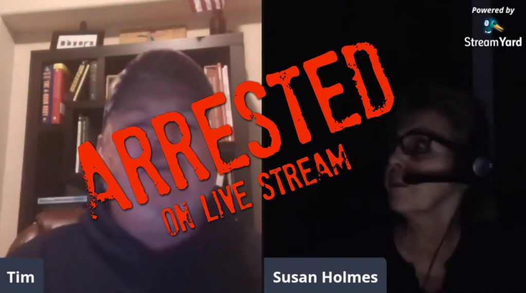 "VIDEO: Police Break Down Susan Holmes' Door To Make Arrest For ""Red Flag"" ERPO Perjury Charge"